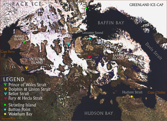 Map 3. Ice Coverage along the Northwest Passage in Early Summer